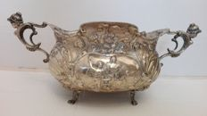 Two handled rounded silver centrepiece, late 18th-early 19th century, Italy. Unidentified goldsmith