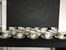 Royal Albert, 20 cups and saucers, various types