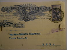 Lot of 13 circulated advertising postcards, 1940s/50s
