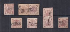 Naples 1858 - 1, 2, 10 grana - Sassone No.  4/5, 7 and 10