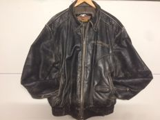 Giacca in similpelle originale Harley Davidson con loghi Harley Davidson - Taglia XL