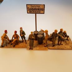 Scale models German and North African soldiers