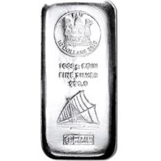 Fiji: 1000 g silver bullion by Heraeus 2015, bullion coins with sailing ship motif, new and sealed