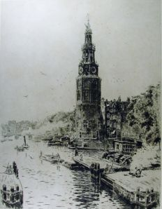 Two etchings - D. Harting / F. Bobeldijk - Amsterdam 1915/1931