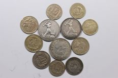 Russia - lot of 12 coins