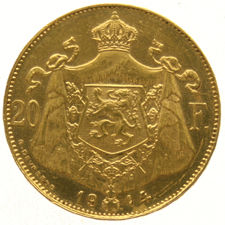 Belgium - 20 Francs 1914, Albert - gold