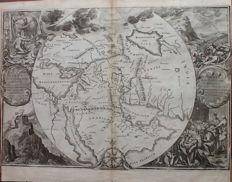 World; Romeijn de Hooghe / Lindenberg - Orbis per creationem institutus - 1702