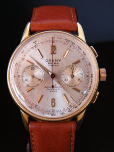CAUNY CHRONOGRAPH - Men's wristwatch from 1960s -  Swiss made.