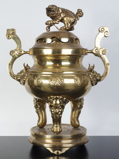 Bronze incense burner - Vietnam - early 20th century