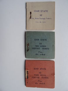 Idar, India 1944 - Set of 3 Booklets