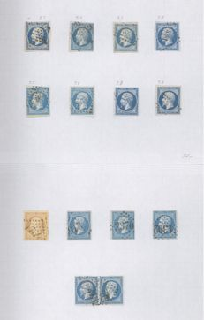 France 1850/70 - lot of classic stamps - Yvert 4/60 with missing