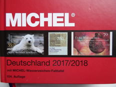 """Accessories - Michel Catalogue Germany 2018 and two informative books """"World history on stamps""""."""