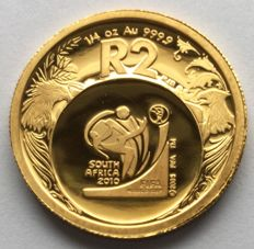 South Africa - 2 rand 2006 'FIFA World Cup' – 1/4 oz gold