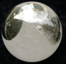 Beautiful rock crystal sphere with green Chlorite inclusions - 5.15 kg - 150 mm in diameter