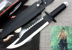 Rambo First Blood - Survival Hunting Bowie Knife FK65 6mm Part multi-function - Licensed