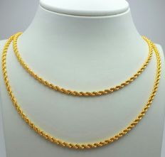 22 Ct Gold Rope Chain, New(Unused) ***INVEST IN BULLION GOLD JEWELRY ***