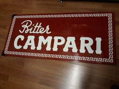 Enamelled sign - Bitter Campari - 1990s