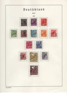 Berlin – 1949 to 1967- a collection complete except for block 1 in Leuchtturm springback binder with red overprint & currency set
