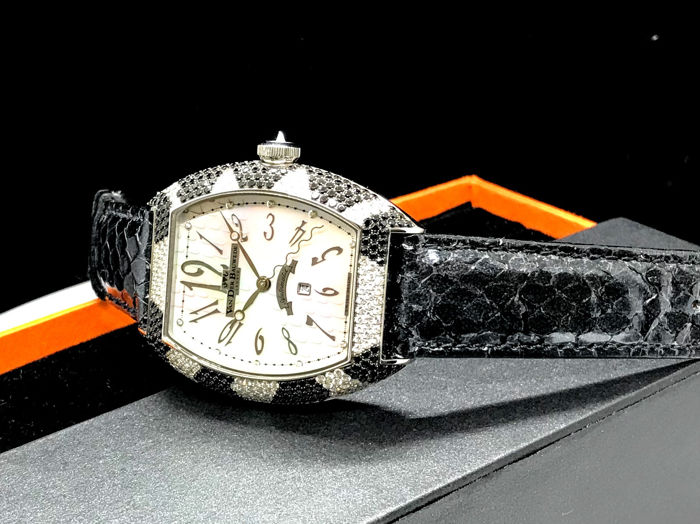 Van Der Bauwede - Snake Collection Automatic with Black and White diamonds - Ref. 12901 - Dames - 2011-heden