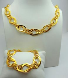 22 Ct Gold Link Necklace & Bracelet Set, New(Unused) ***INVEST IN BULLION GOLD JEWELRY ***