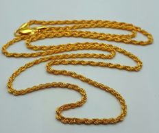 22 Ct Gold Rope Chain, New(Unused) ***NO RESERVE PRICE  ***