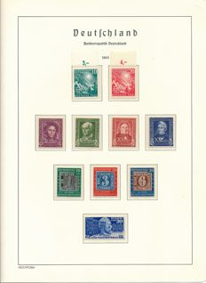 Federal Republic of Germany – 1949 – 1984 – practically complete collection in 2 Leuchtturm springback binders