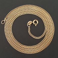 "18 kt yellow gold necklace - Chain ""Bearded"" - Length: 60 cm - No Reserve -"