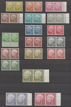 Federal Republic of Germany 1954 - Selection Heuss (I)- Michel 177xwv/177xwv, 186xwv/186xwv, 189xwv/189xwv, 196xwv/196xwv
