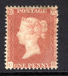 Great Britain Queen Victoria 1850 - 1d red-brown - trial perforation 14