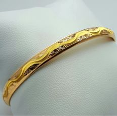22 Ct Gold Bangle with Engraving ,  New( Unused) ***INVEST IN BULLION GOLD JEWELLERRY***