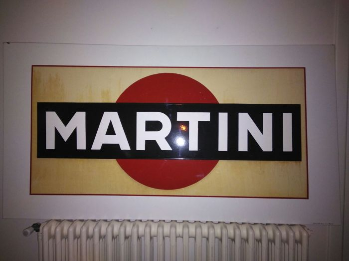 Enamel advertising sign Martini - 150 x 80 cm
