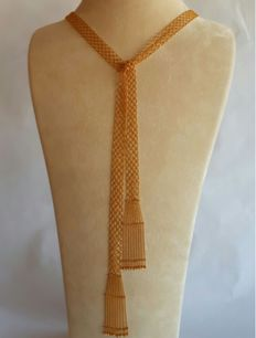 22 Ct Gold Mesh Necklace with Tassels ,  New( Unused) ***INVEST IN BULLION GOLD JEWELLERRY***
