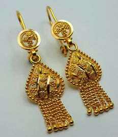 22 Ct Gold  Earrings,  New( Unused) ***INVEST IN BULLION GOLD JEWELLERY***