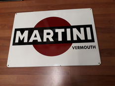 Enamelled sign - Martini Vermouth - 1990s