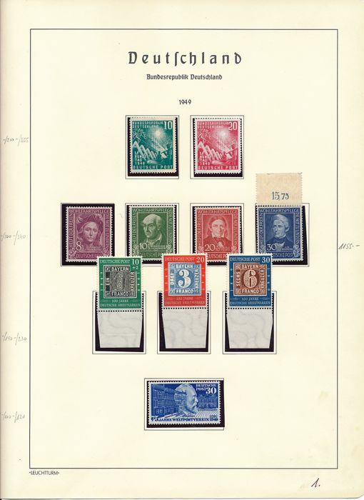 Federal Republic of Germany - 1949 - 1980- complete collection except for Posthorn set in Schaubek springback binder