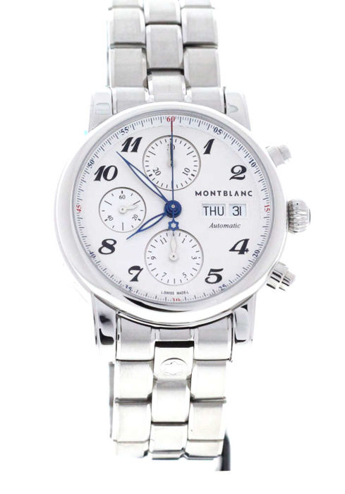 Montblanc - Star 39 Automatic Silver Dial Day Date - 106468 - Unisex - 2017