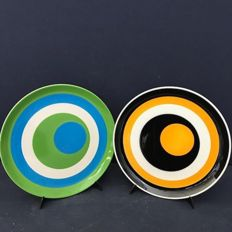 "Set of 2 ""Mancioli"" Collection Plates, Limited Edition"