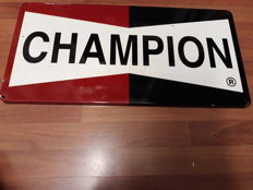 Enamelled sign - Champion - 1990s