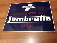 Enamelled sign - Lambretta Innocenti - 1990s