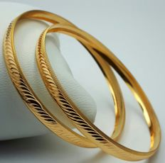 22 Ct Gold 2 Bangle Set ,  New( Unused) ***INVEST IN BULLION GOLD JEWELLERY ***