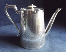 Silver Plated Teapot with striated decoration, ca. 1890