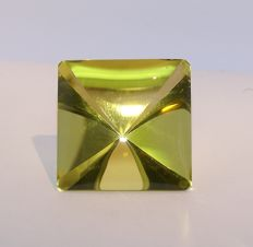 Citrine -greenish Yellow   35.39 ct ,             NO RESERVE
