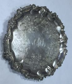 A George III Silver Salver - London - 1811