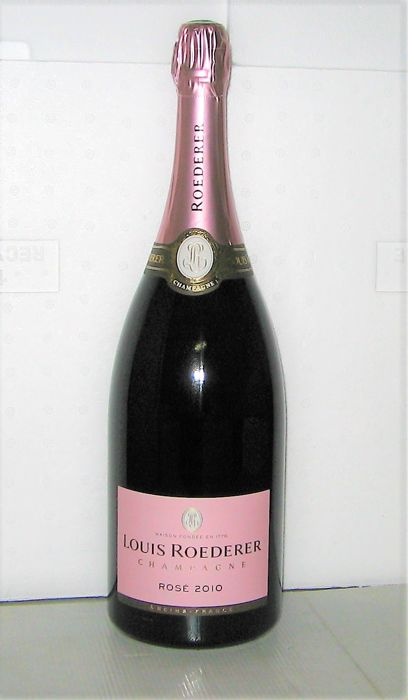 Champagne Louis Roederer Rosé 2010 in DeLuxe Box - 1 Magnum (150cl)