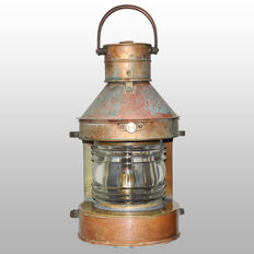 Antique copper ship's lamp (masthead) 225˚