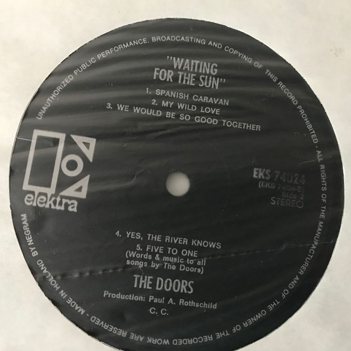 The Doors collection of 6 records including Waiting For The Sun black/silver label original (NL) and The End 12inch & The Doors collection of 6 records including Waiting For The Sun ...