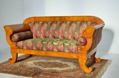 Biedermeier sofa - Birch wood - Northern Europe - ca. 1850