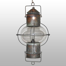 Rare brass boat lamp (ball lantern) 360 °