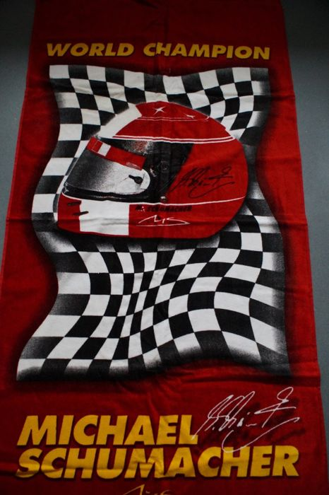 Ferrari / Michael Schumacher objects incl  flag - Catawiki