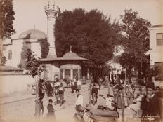 Abdullah Frères (active from 1858 to 1899) - Street life in a street in the neighbourhood of Dolma Bachi, Constantinople
